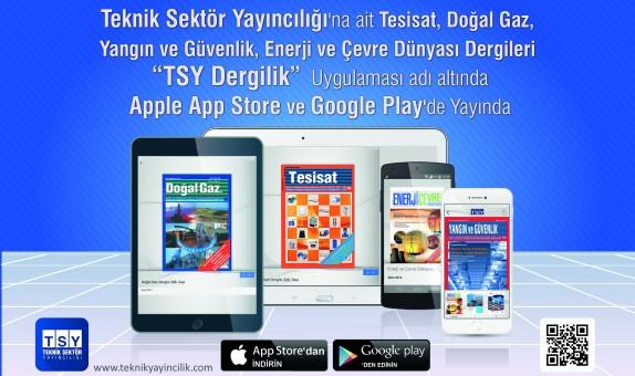 TSY Dergilik Uygulaması Apple App Store ve Google Play'de Yayında