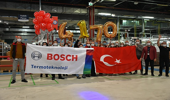 Bosch Termoteknik'ten Günlük Kombi Üretim Adedinde Rekor