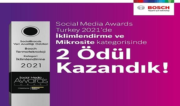 Bosch Termoteknoloji'ye Social Media Awards'dan 2 Ödül Birden
