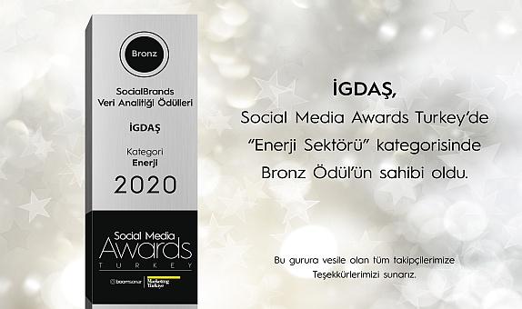 İGDAŞ'a Social Media Awards Turkey'den Bronz Ödül!