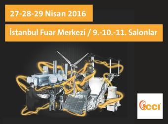 ICCI 2016 | 27-28-29 Nisan 2016 | İstanbul Fuar Merkezi / 9.-10.-11. Salonlar