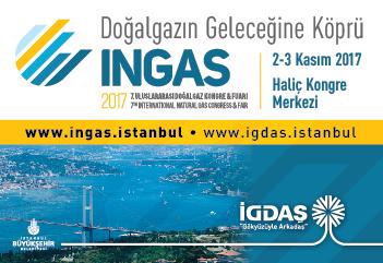 INGAS 2017 - 7. Uluslararası Doğalgaz Kongre & Fuarı | 2-3 Kasım 2017 | Haliç Kongre Merkezi